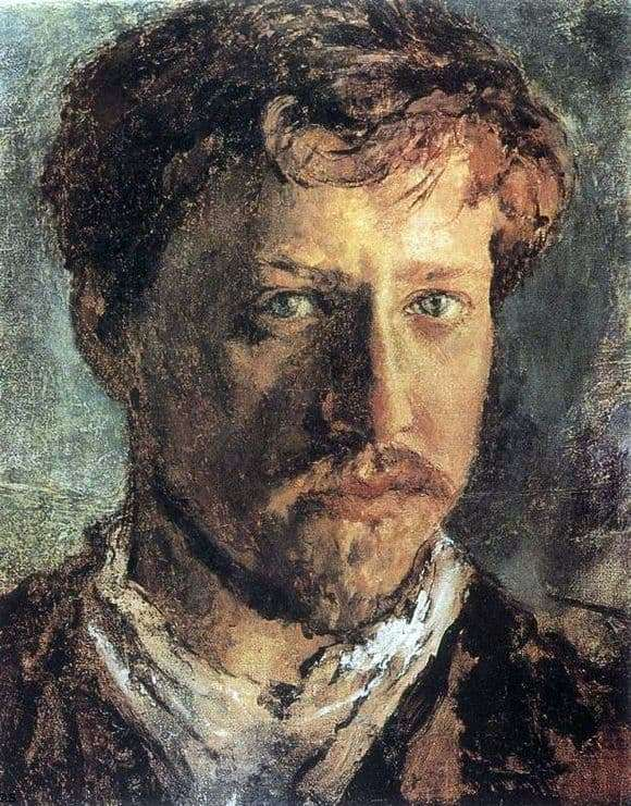 Description of the painting by Valentin Serov Self portrait