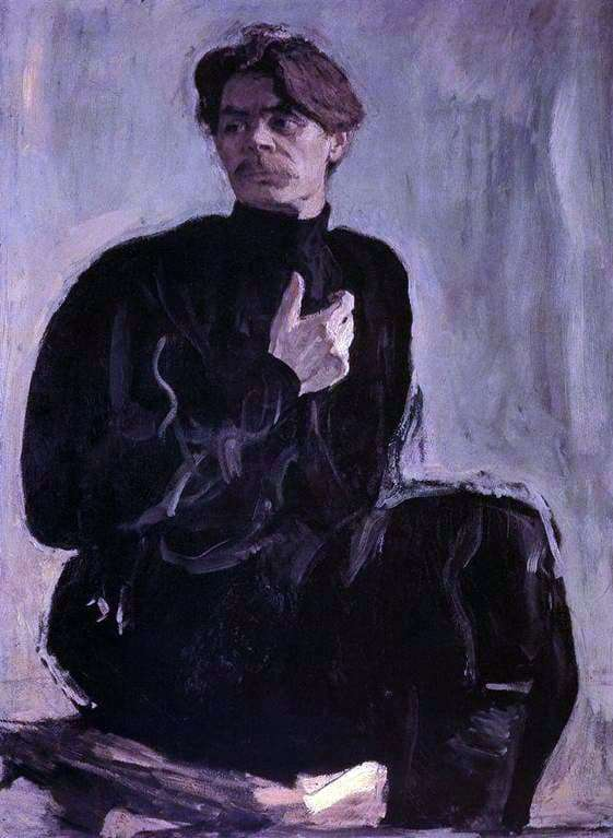Description of the painting by Valentin Serov Portrait of Maxim Gorky