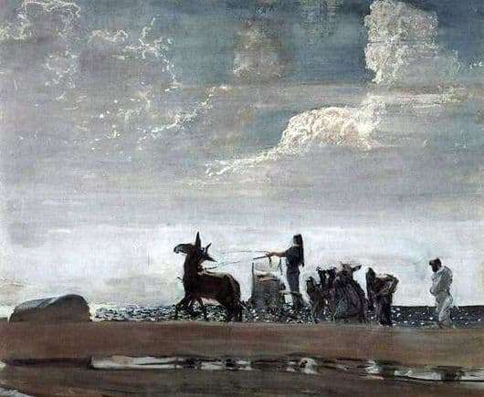 Description of the painting by Valentin Serov Odyssey and Navsikaya