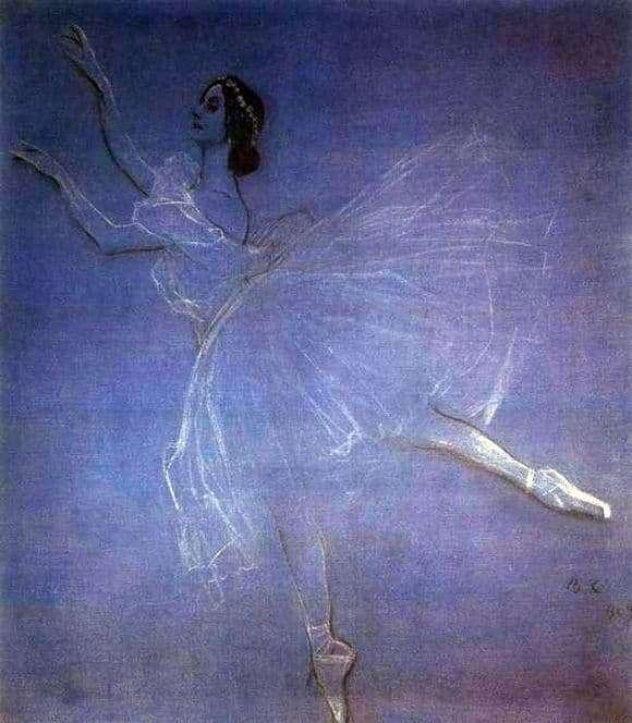 Description of the painting by Valentin Serov Anna Pavlova
