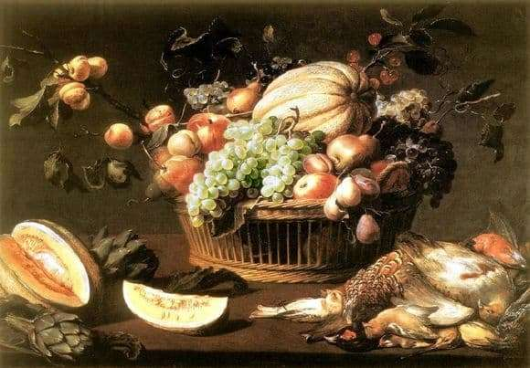 Description of the painting by Frans Snyders Still life with fruit