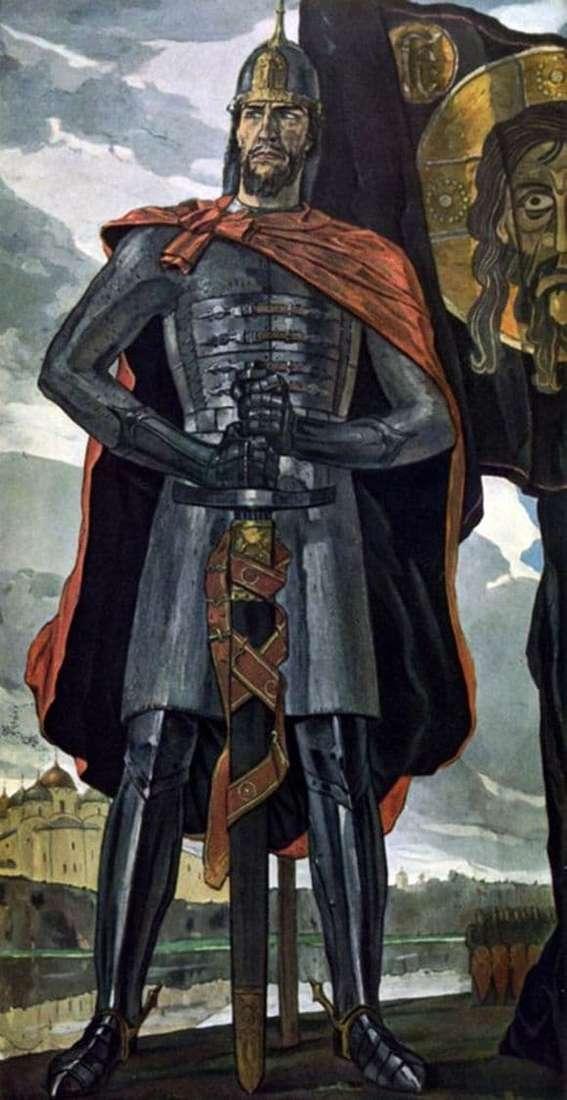Description of the painting by Pavel Korin Alexander Nevsky