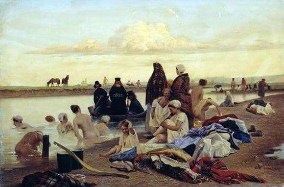 Description of the painting by Lev Solovyov The monks drove the wrong way