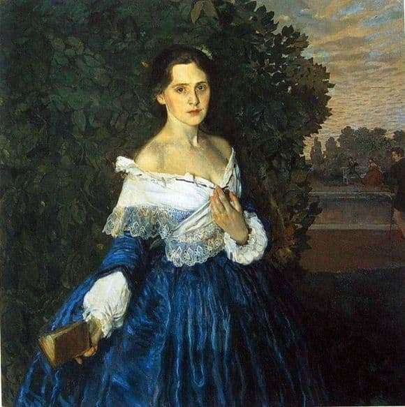 Description of the painting by Konstantin Somov Lady in Blue
