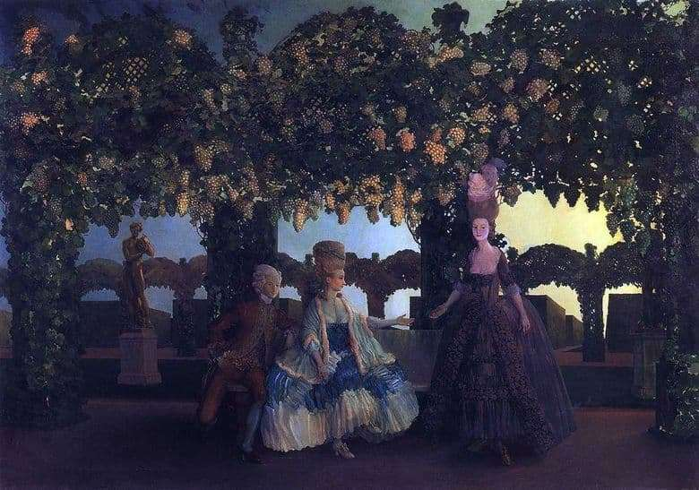 Description of the painting by Konstantin Somov Evening