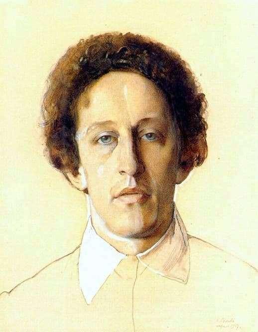 Description of the painting by Konstantin Somov Portrait of A. A. Blok