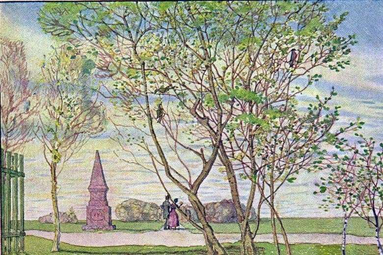 Description of the painting by Konstantin Somov Spring