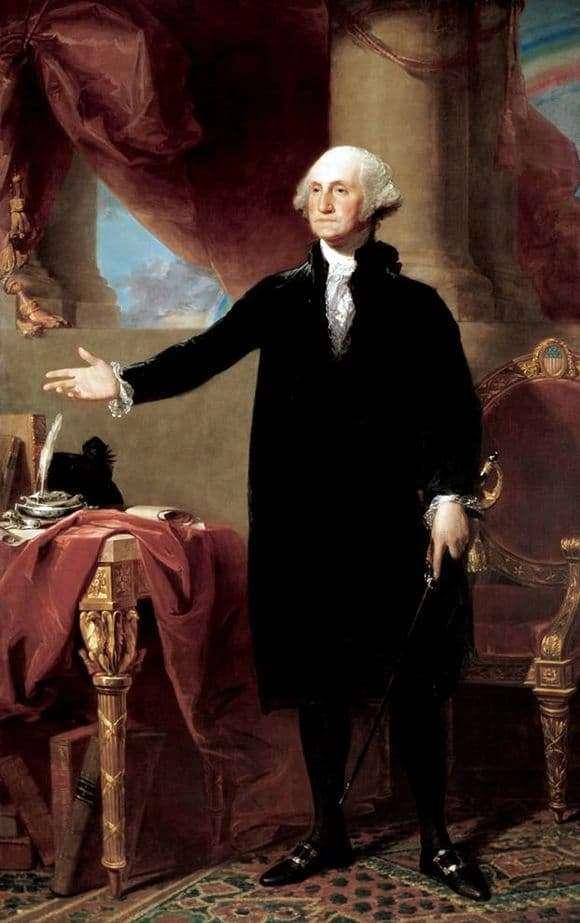 Description of the painting by Gilbert Stuart Portrait of George Washington