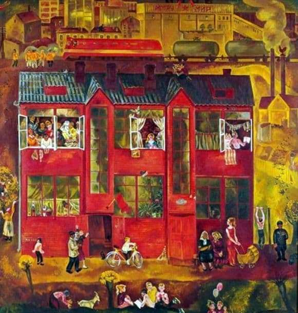 Description of the painting by Vasily Sumarev My Home