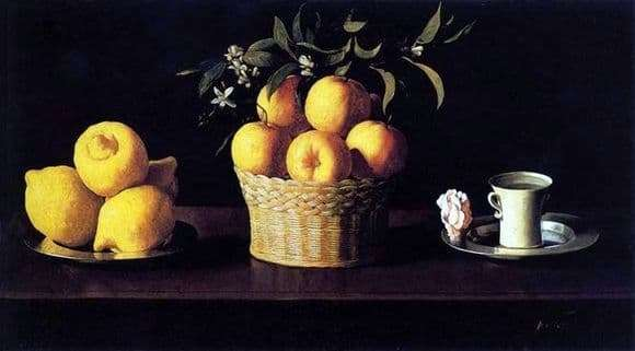 Description of the painting by Francisco de Zurbaran Still life with lemons and oranges