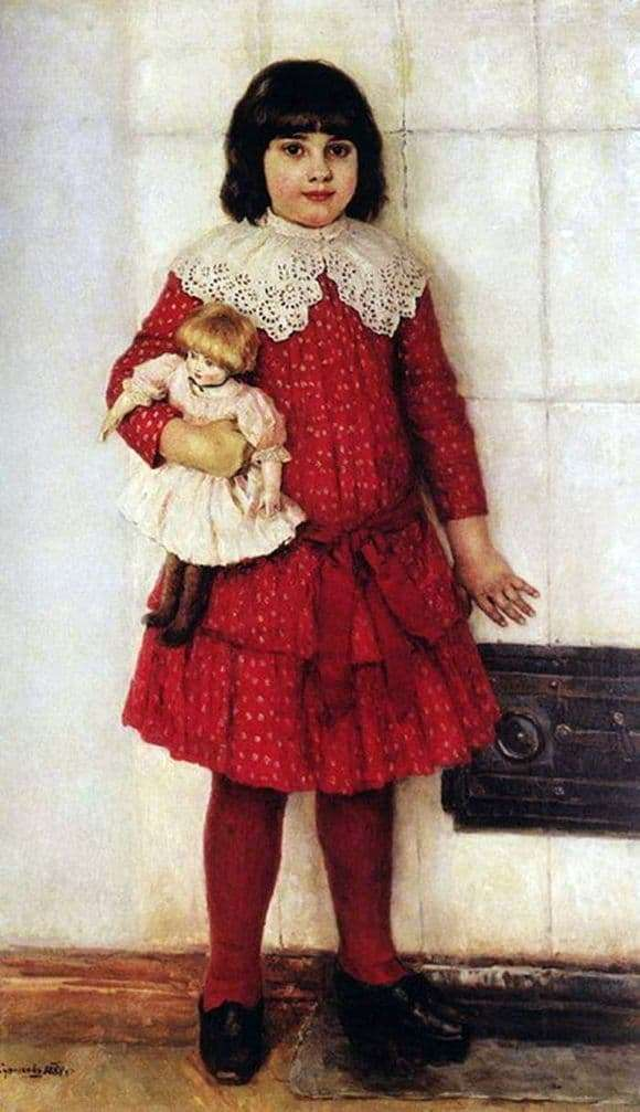 Description of the painting by Vasily Surikov Portrait of a daughter