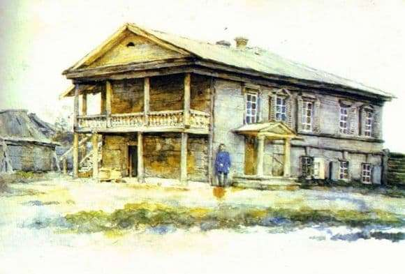Description of the painting by Vasily Surikov House of Surikov in Krasnoyarsk