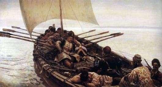 Description of the painting by Vasily Surikov Stepan Razin