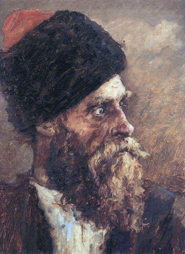 Description of the painting by Vasily Surikov Cossack