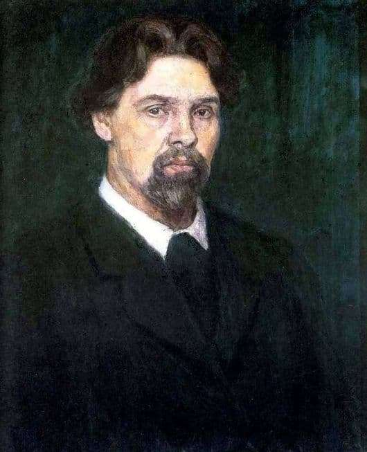 Description of the painting by Vasily Surikov Self portrait