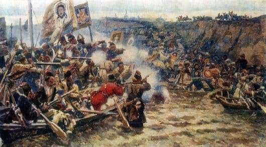 Description of the painting by Vasily Surikov The Conquest of Siberia by Yermak