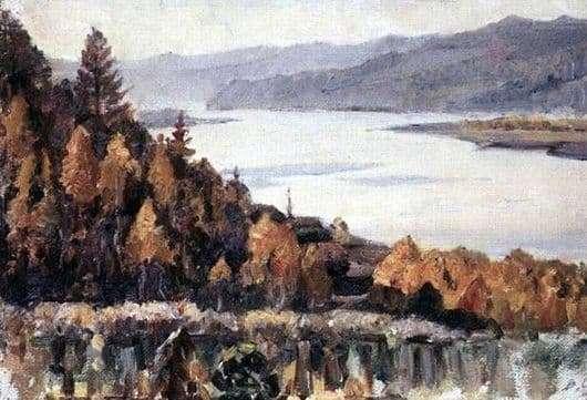 Description of the painting by Vasily Surikov Yenisei near Krasnoyarsk