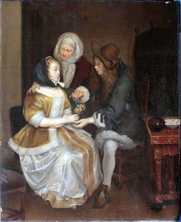 Description of the painting by Gerard Terborch A glass of lemonade