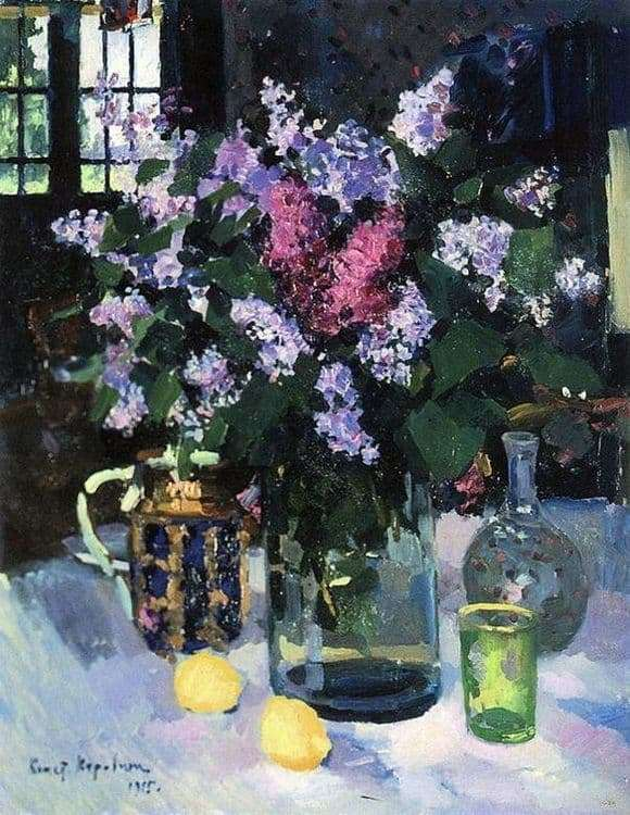 Description of the painting by Konstantin Korovin Lilac