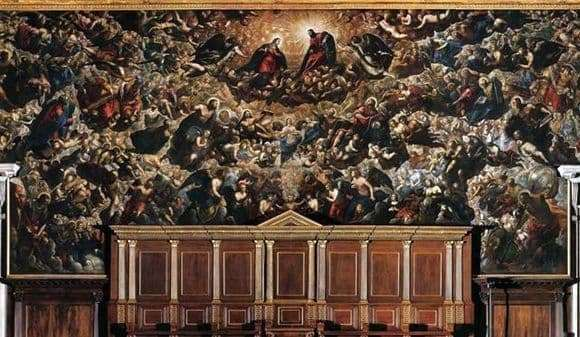 Description of the painting by Jacopo Tintoretto Paradise