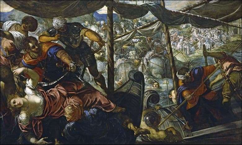 Description of the painting by Tintoretto Abduction of Helen