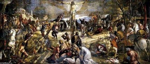 Description of the painting by Jacopo Tintoretto Crucifixion