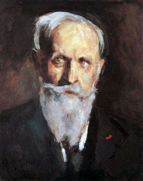 Description of the painting by Konstantin Korovin Self portrait