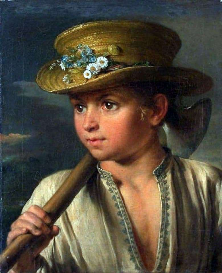 Description of the painting by Vasily Tropinin Peasant boy with a hatchet