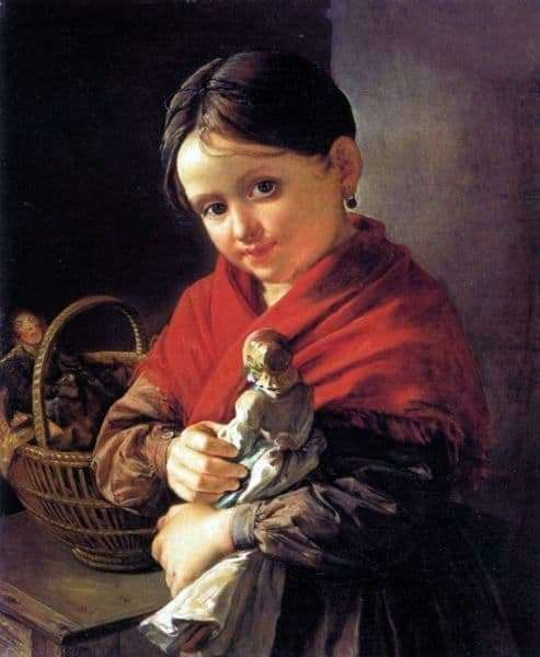 Description of the painting by Vasily Tropinin Girl with a doll