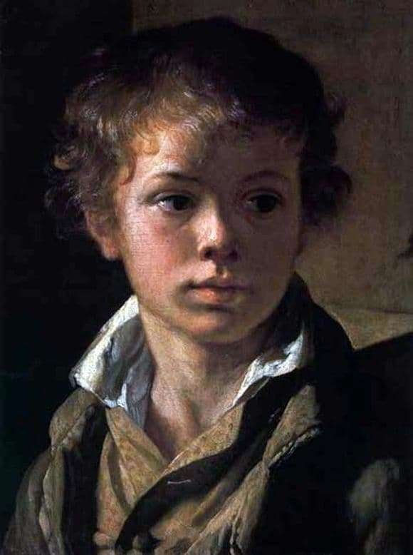 Description of the painting by Vasily Tropinin Portrait of the artists son, Arseny