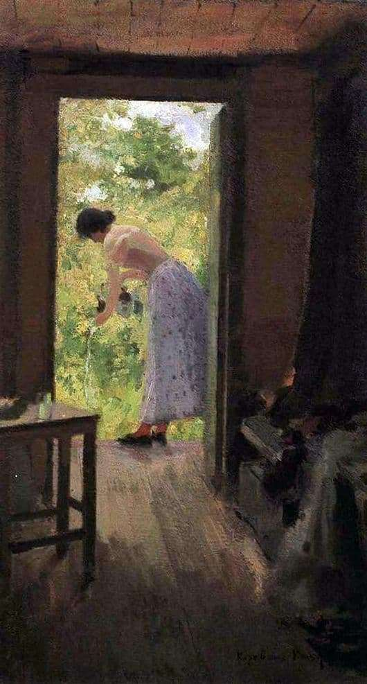 Description paintings Konstantin Korovin At the dacha