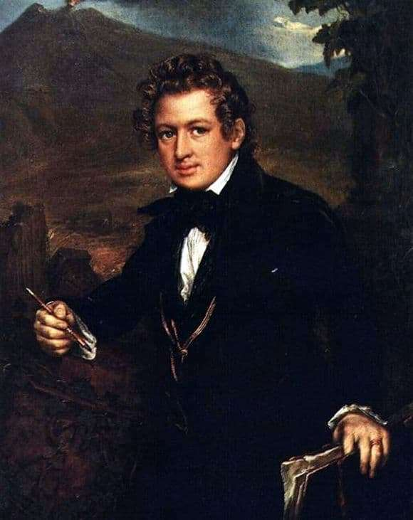 Description of the painting by Vasily Tropinin Portrait of Briullov