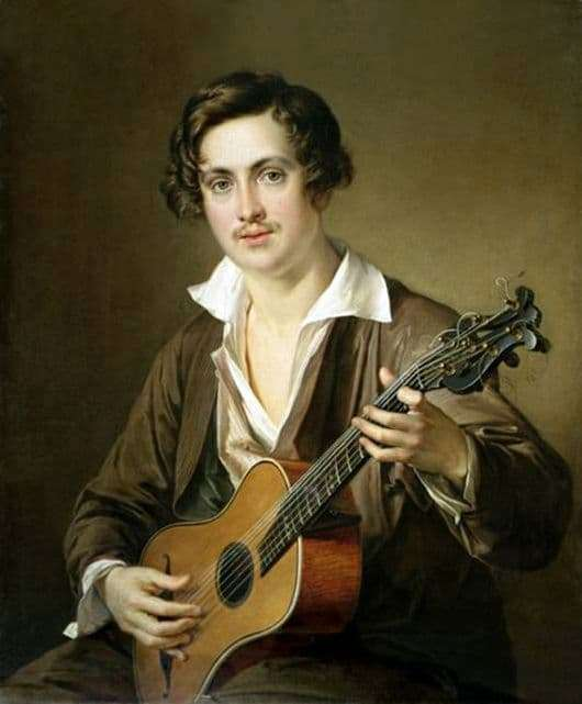 Description of the painting by Vasily Tropinin Guitarist