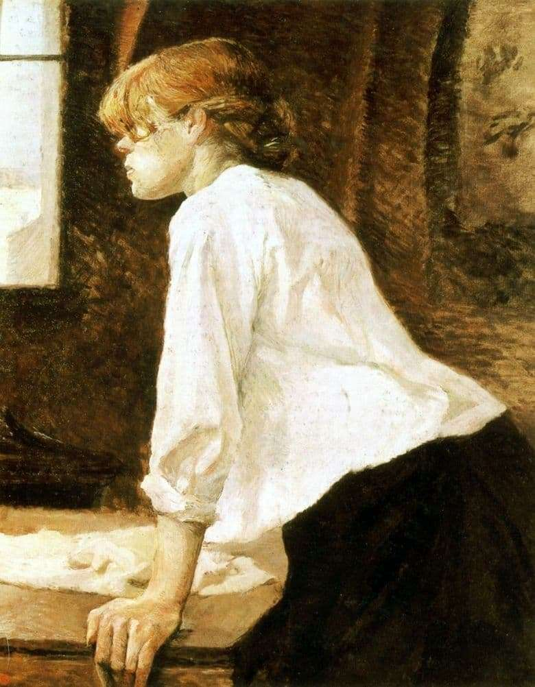Description of the painting by Henri Toulouse Lautrec Laundress