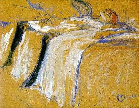 Description of the painting by Henri de Toulouse Lautrec Alone