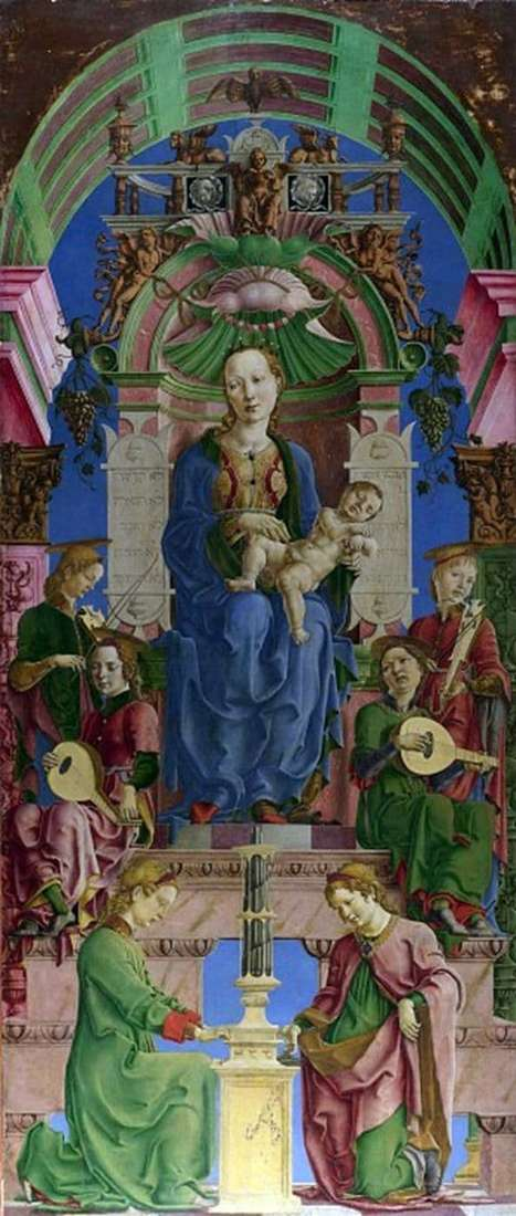 Description of the painting by Cosimo Tour Madonna