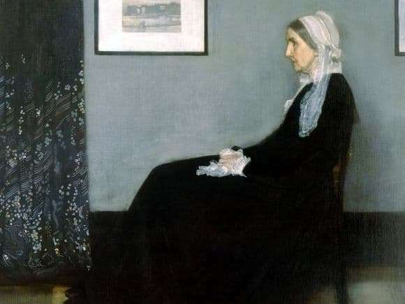 Description of the painting by James Whistler Portrait of a Mother
