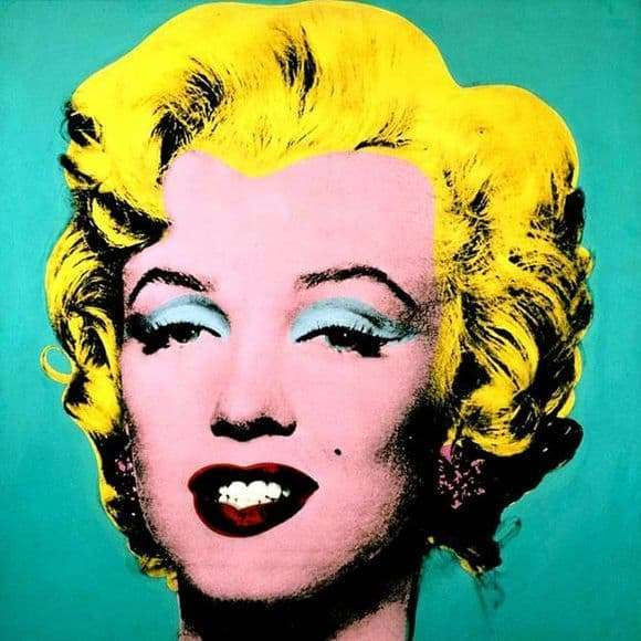 Description of the painting by Andy Warhol Marilyn Monroe