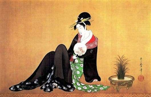 Description of the painting by Kitagawa Utamaro Beauty