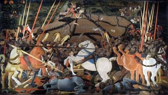 Description of the painting by Paolo Uccello The Battle of San Romano