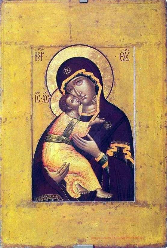 Description of the icon by Simon Ushakov Mother of God of Vladimir