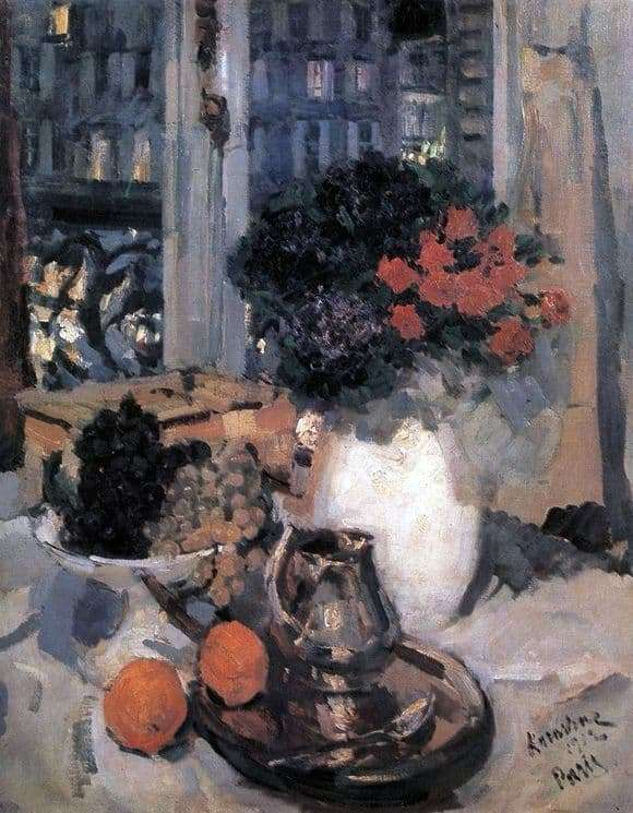 Description of the painting by Konstantin Korovin Still Life