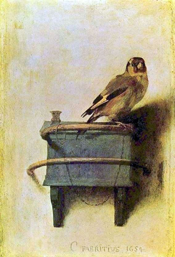 Description of the painting by Karel Fabricius Goldfinch