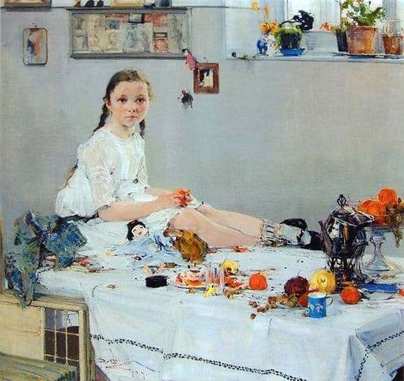Description of the painting by Nicholas Feshin Portrait of Vary Adoratskaya