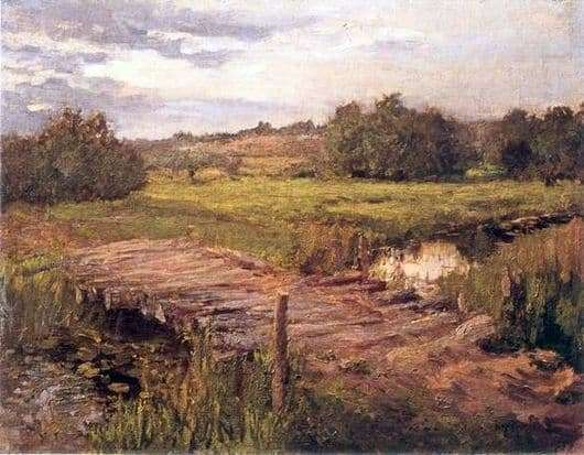 Description of the painting by Konstantin Korovin Stream