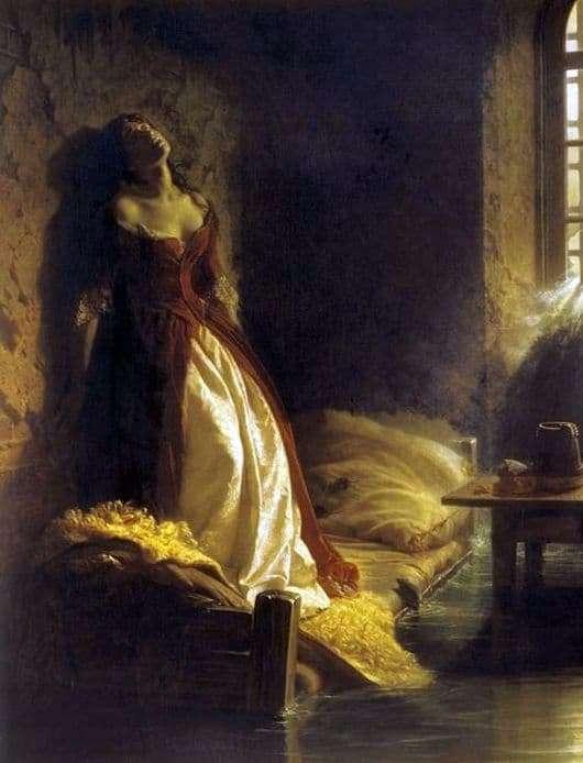 Description of the painting by Konstantin Flavitsky Princess Tarakanov