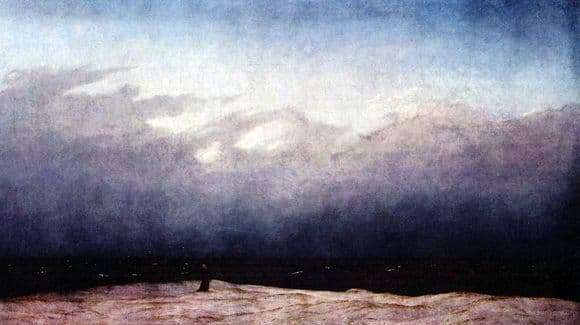 Description of the painting by Caspar David Friedrich Monk by the Sea