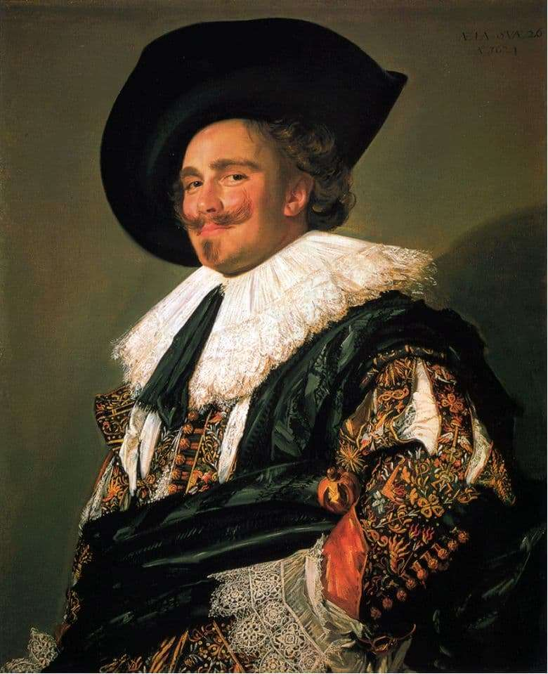 Description of the painting by Frans Hals Smiling Chevalier