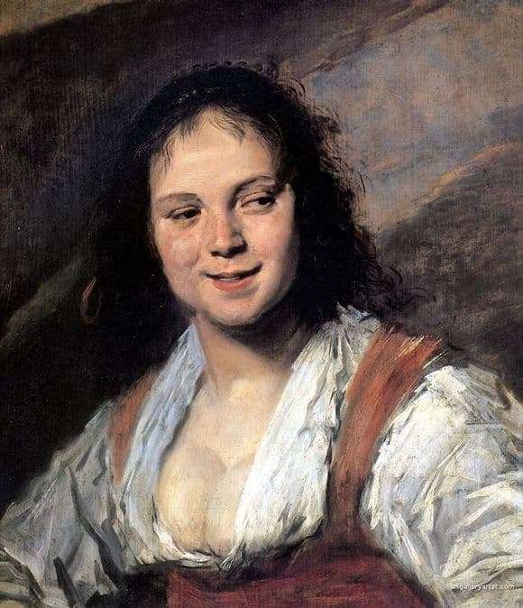 Description of the painting by Frans Hals Gypsy