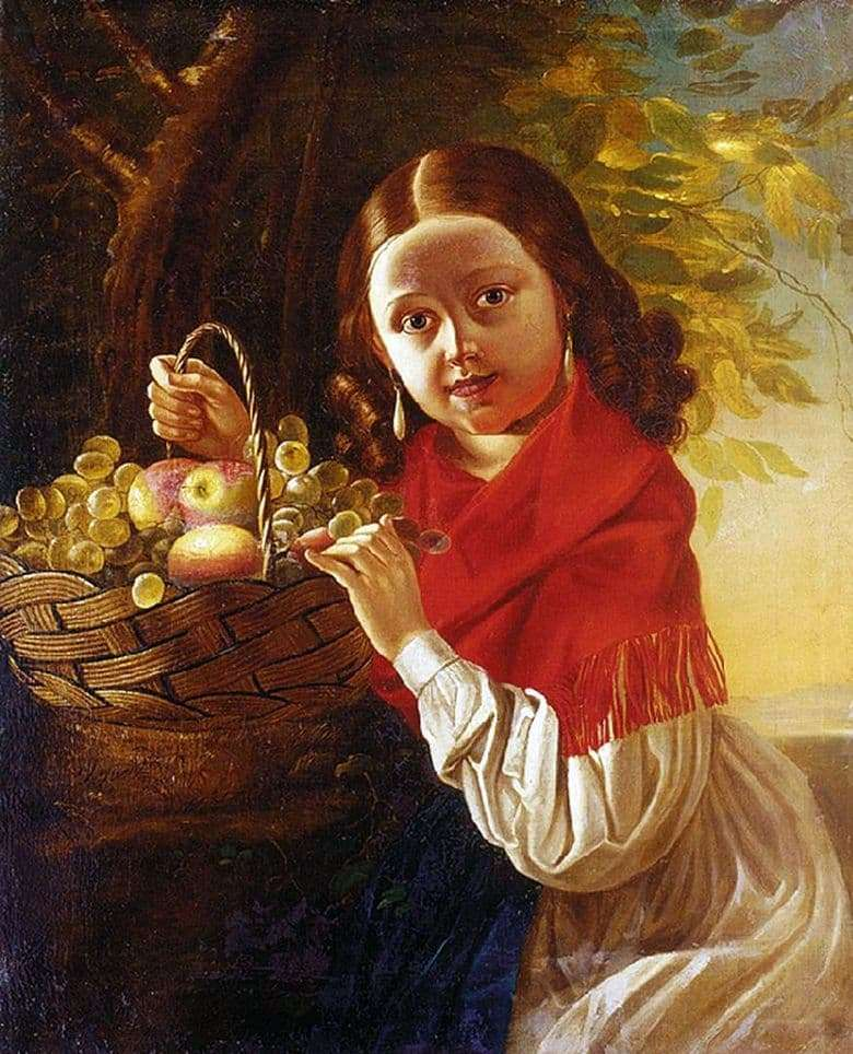 Description of the painting by Ivan Khrutsky Girl with fruit